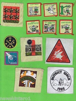 #D84.  OVER 20 CLOTH PATCHES etc, MOSTLY SCOUT RELATED
