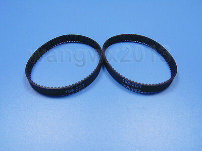 2pcs GT2 Timing Belt Pitch 2mm Width 6mm 2GT158 Annular Loop Geared Rubber Belt