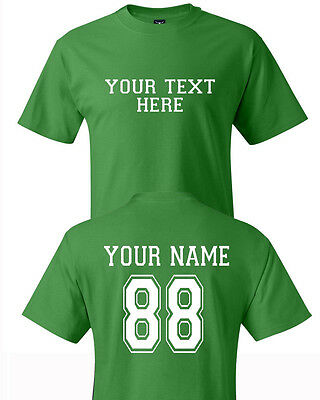 Custom Personalized Text and Number Sports team Jersey type T-shirts  Hanes