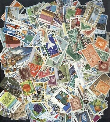 NEW ZEALAND 1000 ALL DIFFERENT USED COLLECTION x10 WHOLESALE LOT (ID 100: W001))