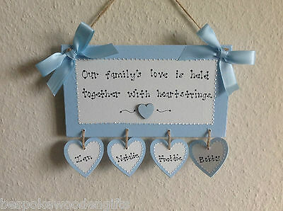 New Family Home Plaque Shabby Cute Chic Sign House Warming Present Favours Gift