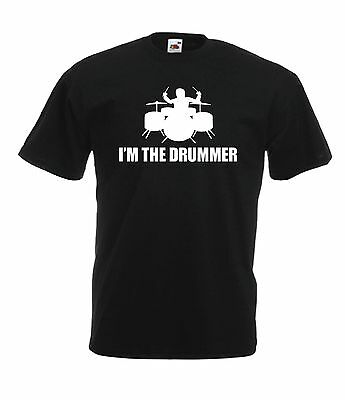 DRUMMER funny music  present NEW Mens Womens T SHIRT TOP size 8-16 s m l xl xxl