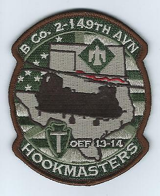 "B CO 2-149TH AVN OEF 13-14 ""HOOKMASTERS"" #2 desert patch"