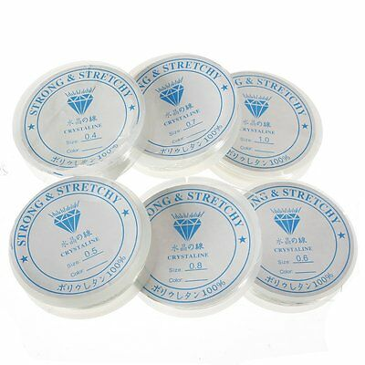 1 x Reel of Quality Clear Crystal Strong & Stretchy Elastic Thread - lady-muck1