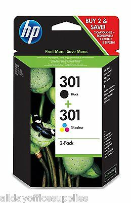 Original HP 301 Black & Colour Ink Combo N9J72AE for HP Envy 4503 VAT inc
