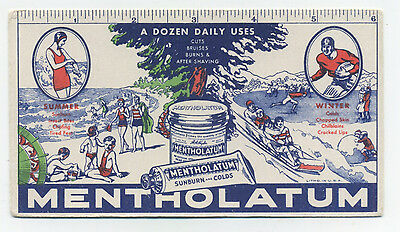 Mentholatum blotter - Summer and winter sports scenes