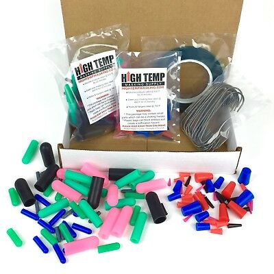 "124pc Powder Coating Masking Kit - Silicone Plugs, Caps & 3/8"" High Temp Tape"
