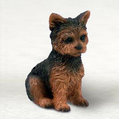 YORKIE YORKSHIRE TERRIER TINY ONES DOG Figurine Statue Pet Gift Resin PUPPY CUT