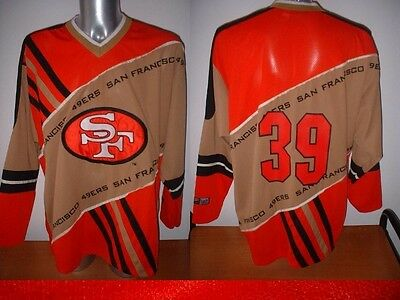 San Francisco 49ers Shirt Jersey NFL Football USA Top Ice Hockey Adult Large