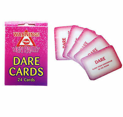 Pack Of 24 Hen Party Dare Card Girls Night Out Accessories / Wedding Favours