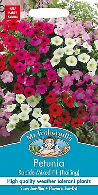 Mr Fothergills - Flower - Petunia Rapide Mixed F1 Trailing - 100 Seeds