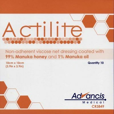 Actilite Manuka Honey Dressings Box of 10-All Sizes Available