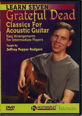 Learn Seven 7 Grateful Dead Classics for Acoustic Guitar DVD How to Play Tuition