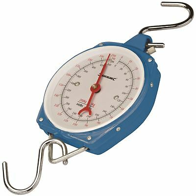 Silverline 251087 200kg Heavy Duty Hanging Weighing Scales with Hook Fishing