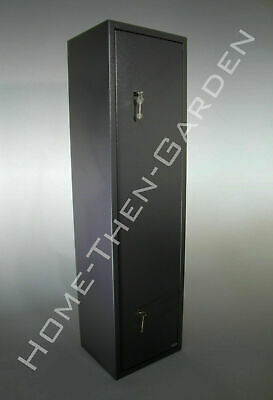 6 Gun Cabinet Grey Extra Wide And Deep Safe 6 Guns 7 Lever Locks Police Appr