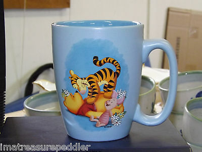 """DISNEY STORE 5"""" LARGE COFFEE MUG CUP WINNIE THE POOH PIGLET TIGGER EXCELLENT"""