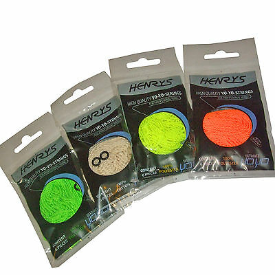 Henry's YoYo String Professional UV Yo Yo Trick String Pack of 6