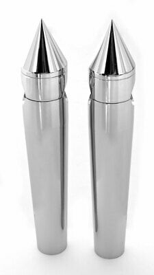 "Spike Custom 8"" Rise Chrome Billet Handlebar Risers Fit Harley-Davidson Chopper"