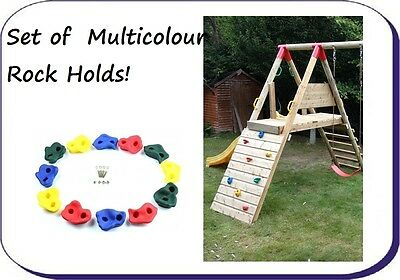 ROCK HOLDS Childrens set FOR KIDS CLIMBING FRAME PLAYHOUSE NEW!