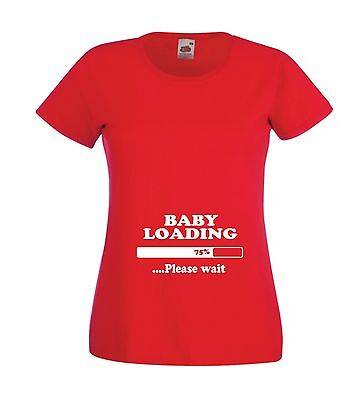 BABY LOADING pregnancy maternity new born mothers mummys top gift womens T SHIRT