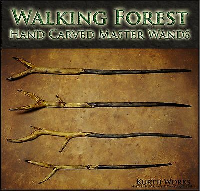 CUSTOM Walking Forest Wand Wizard Real Magic Fantasy Cosplay Wooden