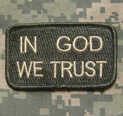 IN GOD WE TRUST TACTICAL ISAF USA MILITARY US ARMY MORALE ACU LIGHT VELCRO PATCH