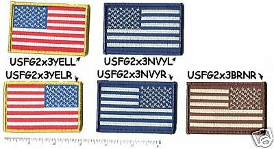 """HOOK/LOOP United States US Flag 3""""x2"""" stars left red white blue patch"""