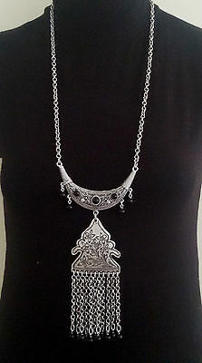 Turkish Ottoman Style Silver Plated Necklace S1460B