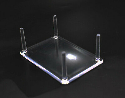 "4 Prong Display Table Stand 2.5 x 3.5"" for Seashells Clear Acrylic"