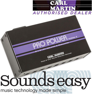 Carl Martin Pro Power VERSION 2 - 9-12v Guitar Pedal Power Supply with 8 Outputs