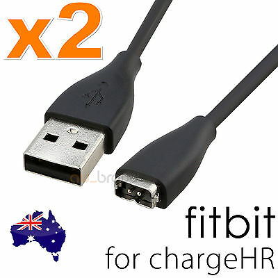2x For Fitbit Charge HR Wristband Replacement Charging Cable USB Charger