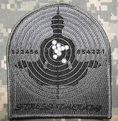 STRESS THERAPY TACTICAL US ARMY GROUP MORALE ISAF MILITARY ACU DARK VELCRO PATCH