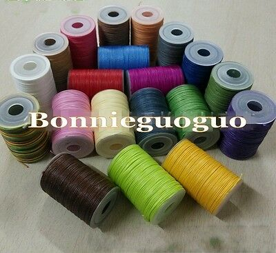 Polyester Leathercraft Small Waxed Thread 0.8mm 49yad for Leather Sewing