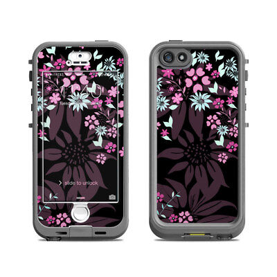 Skin for LifeProof Nuud iPhone 5S - Dark Flowers by Kate Knight - Sticker Decal