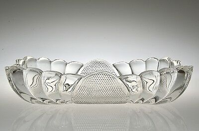 1897 KENTUCKY by U.S. Glass CRYSTAL / CLEAR #15051 Celery / Relish Dish