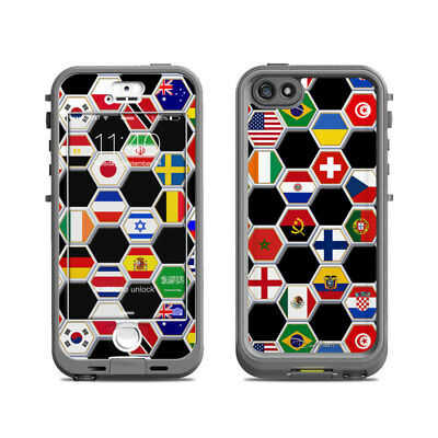Skin for LifeProof Nuud iPhone 5S - Soccer Flags by Dan Morris - Sticker Decal