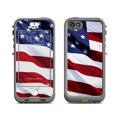 Skin for LifeProof Nuud iPhone 5S - Patriotic by Flags - Sticker Decal