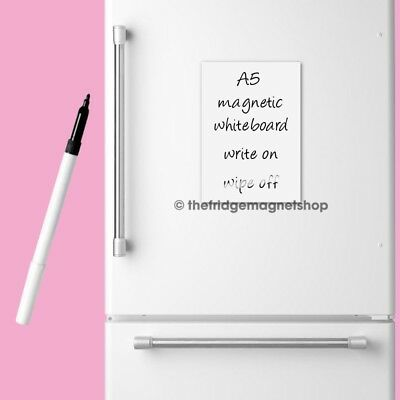 Magnetic Whiteboard Plain A5 Dry Wipe Flexible Memo Notice Fridge Planner Magnet