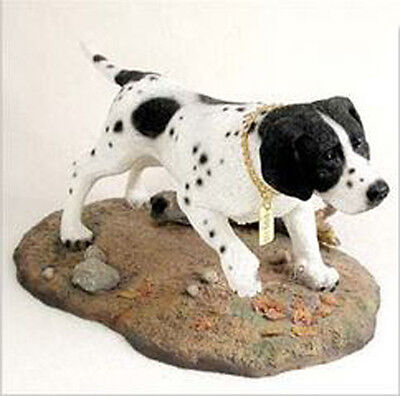 POINTER BLACK WHITE MY DOG SPECIAL EDITION Figurine Statue Hand Painted Resin
