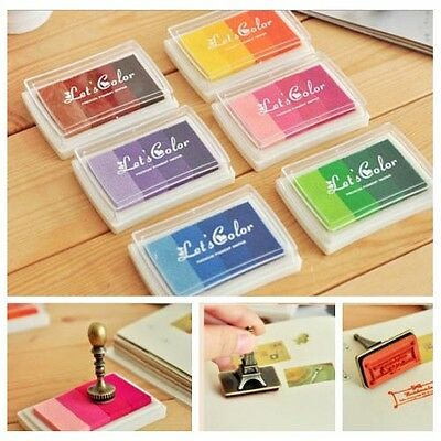 Multi Colour Ink Pad Set Rubber Wood Stamps Paper Wedding Crafts Scrapbook Deco
