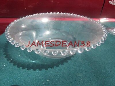 "Crystal Candlewick 10"" Bowl Dish Clear"