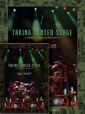Neil Peart: Taking Center Stage Drum Tecnique Instruction Book & 3-Dvd Combo