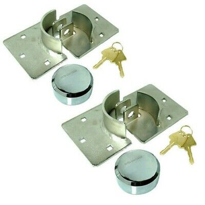 2 Pack  High Security Padlock Hasp Van Lock + Nuts Bolts Fixing Kit Shed Garage