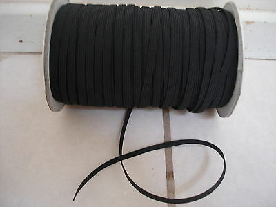 HUGE LOT OF**10*yards.BLACK**1/4 Inch in Width Small Elastic