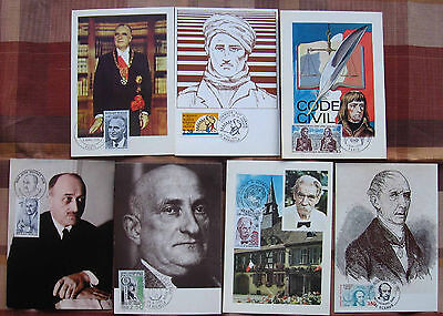 """France - 1973-89 """"Famous Persons"""" Maxicards - Lot 1"""