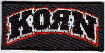 Korn Arched Logo Embroidered Patch New  !