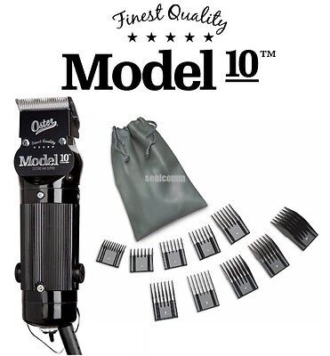 OSTER MODEL 10 PROFESSIONAL CLASSIC BARBER SALON HAIR CLIPPER + Attachment Combs