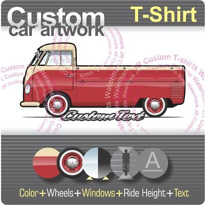 VW VOLKSWAGEN VOLKSWAGON Bay Window Bus Truck Line T-Shirt