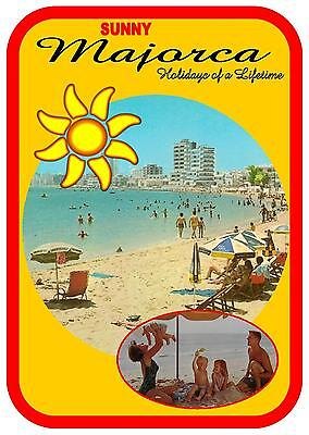 Retro Style 1970s Vintage Majorca Holiday Sign, Wall Hanger Sign