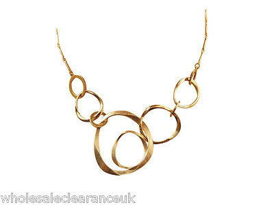 Wholesale Joblot Of 10 French Connection Organic Gold Ring Necklaces Sjaa6